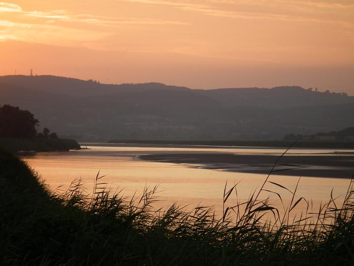 The River Severn at dusk (2 miles away)