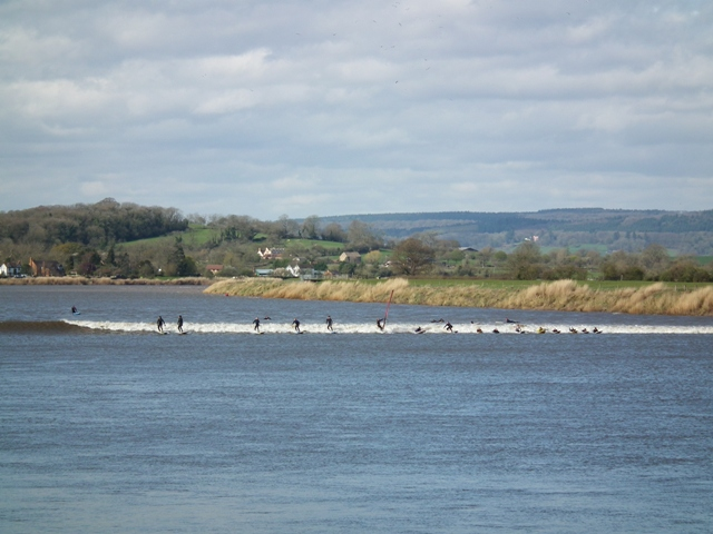 Severn Bore surfers April 2016